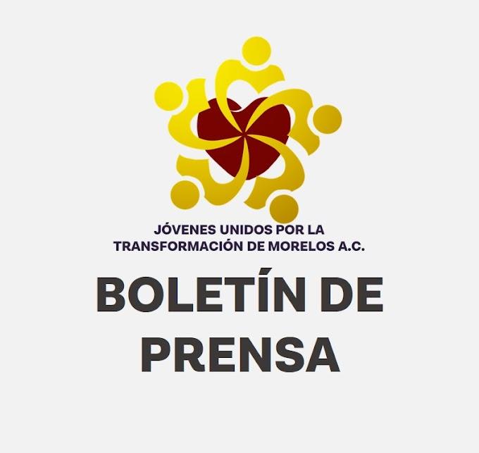 """BOLETÍN DE PRENSA 0001: Refrendan trabajo conjunto """"Jóvenes Unidos por la Transformación de Morelos A.C."""" y el Consejo Municipal de la Juventud de Tepoztlán"""