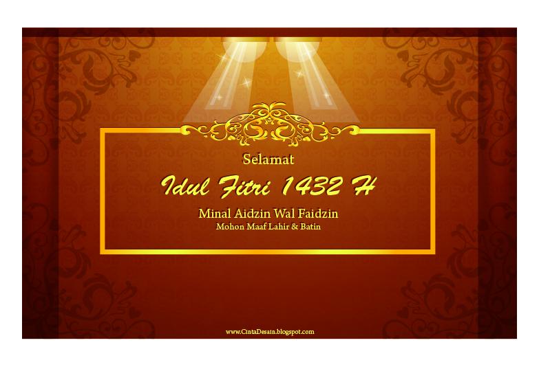 Desain Kartu Ucapan Selamat Idul Fitri 1432 H | Mohon Maaf ...