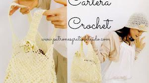 Bolsa Tejida a Crochet en Punto Piñas / Esquema en pdf