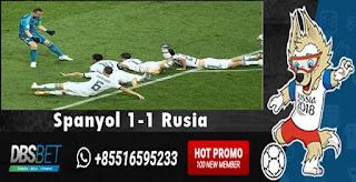 spanyol 1-1 rusia perempatfinal piala dunia 1 juli 2018