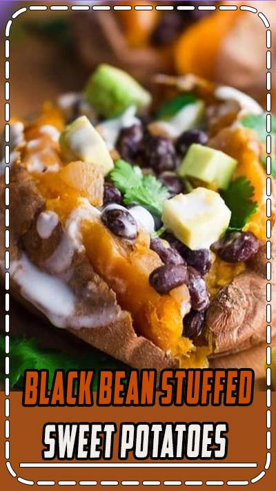 Black Bean Stuffed Sweet Potatoes- this recipe is VEGAN, GLUTEN-FREE, and very easy to make. Makes for a filling and healthy dinner! #vegan #sweetpotato #healthy
