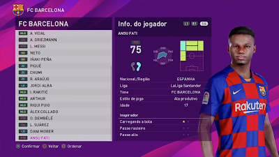 eFootball PES 2020 PS4 Option File by Dito Play