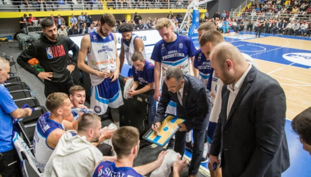 Sigal Prishtina players Dardan Berisha and Divine Myles in the top scorers in the FIBA Europe Cup