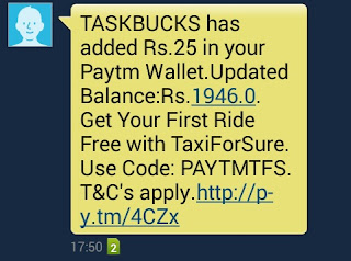 Task buck paytm payment proof