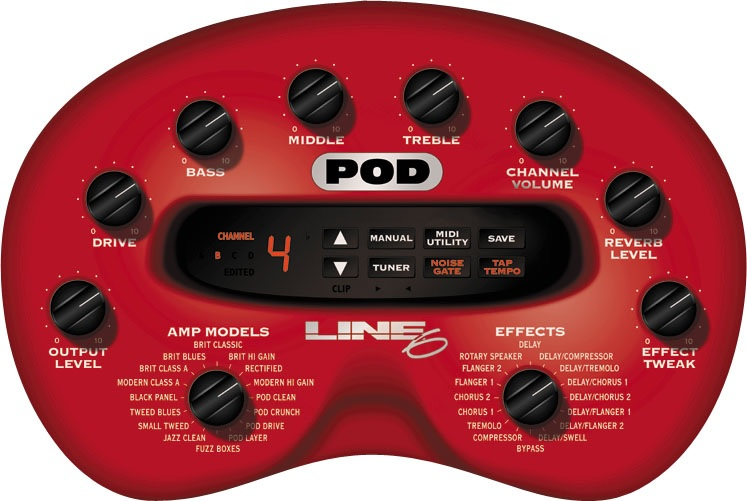 The Unique Guitar Blog: Line 6 - The POD - The Modeling Pedals - The