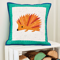 Foundation Paper Pieced Hedgehog Envelope Back Pillow Pattern