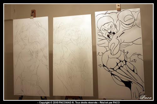 Jane Grey alias Phœnix, des X-Mens,sur toiles par paco illustrateur graphiste artiste peintre