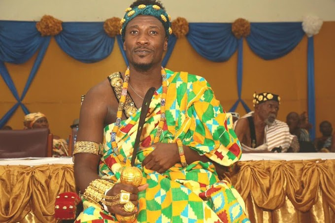 Asamoah Gyan installed as 'kind-hearted, progressive chief' in Hohoe.