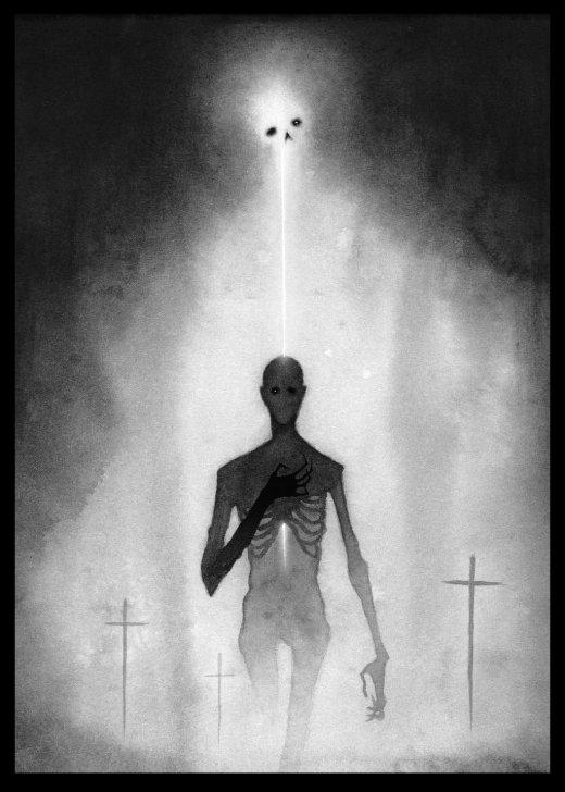 Xavier Ortiz deviantart arte pinturas aquarela sombrias terror surreal