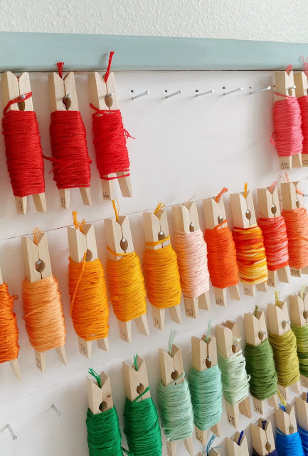 build your own embroidery floss organizer
