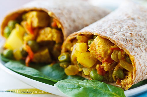 Samosa Wraps #healthywraprecipes
