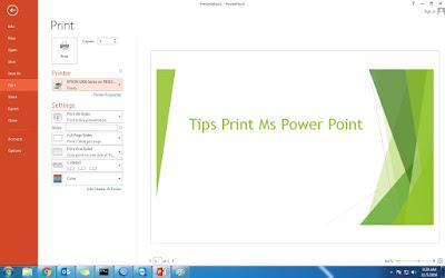 Cara Mudah Print di Ms Power Point dan Tipsnya 1