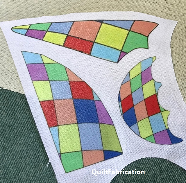 colorful sails transferred onto white