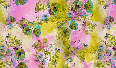 floral textile repeat 7038