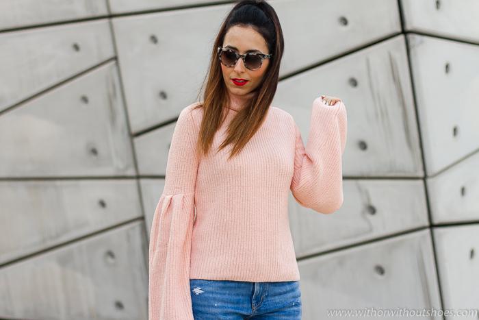 BLogger influencer valenciana con ideas de looks streetstyle para combinar jeans vaqueros cigarette slim boyfriend