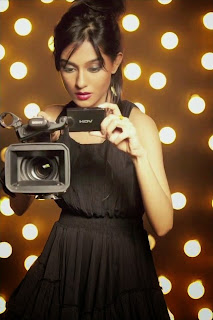 Amrita Rao with camera