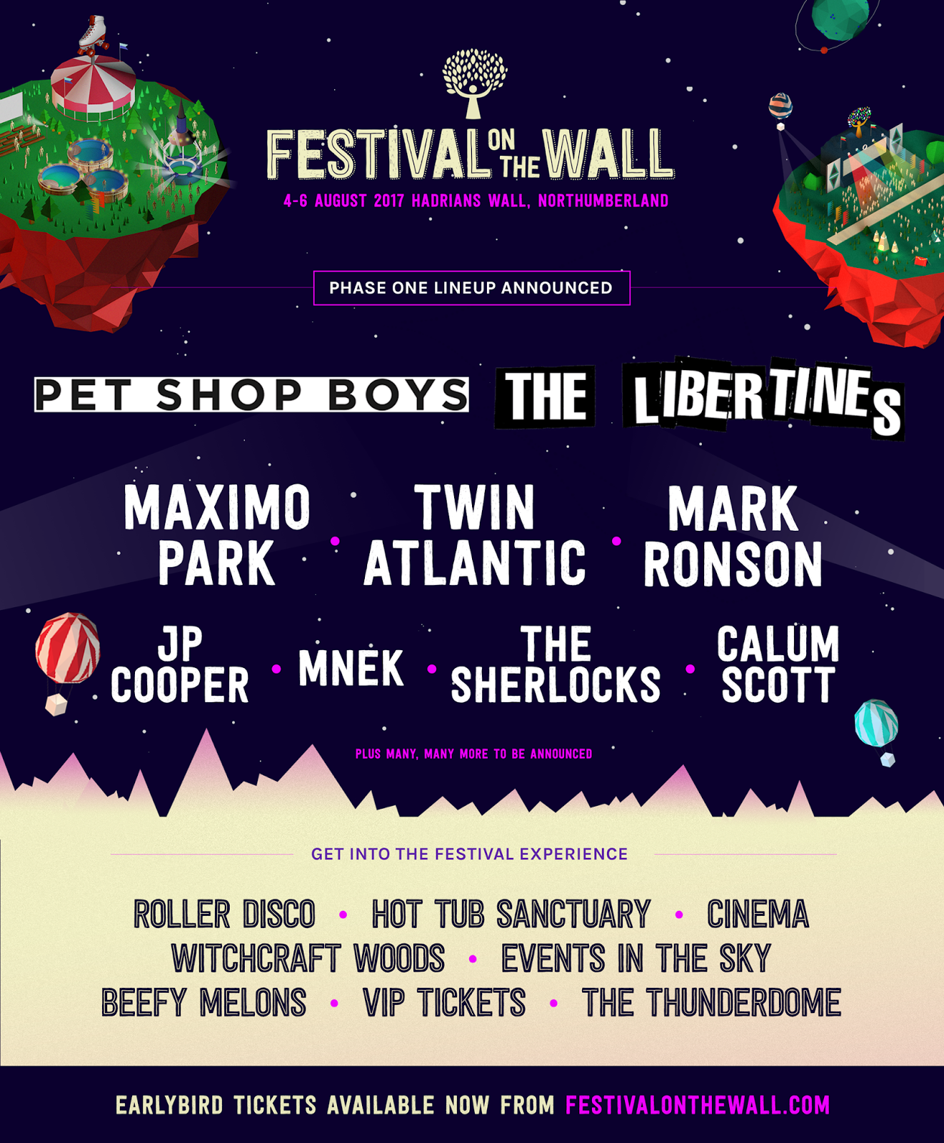 Festival on the Wall 2017 | Line Up , What's On For Kids & All You Need To Know - line up poster