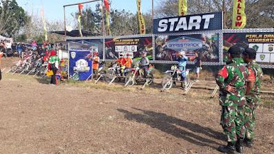 Perebutkan Piala Danrem 163/WSA, Kejurnas Grasstrack & Motocross Digelar di Sircuit Perancak