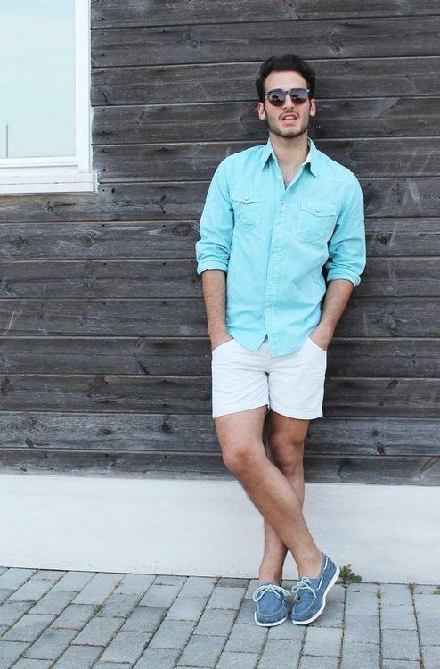 Camisa Masculina Tom Pastel Azul