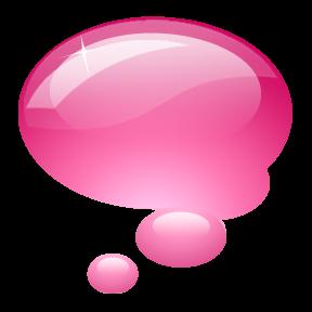 dibujo burbuja rosa