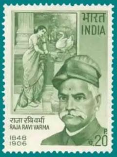 महिला और हंस कृति टिकट पर - राजा रवि वर्मा