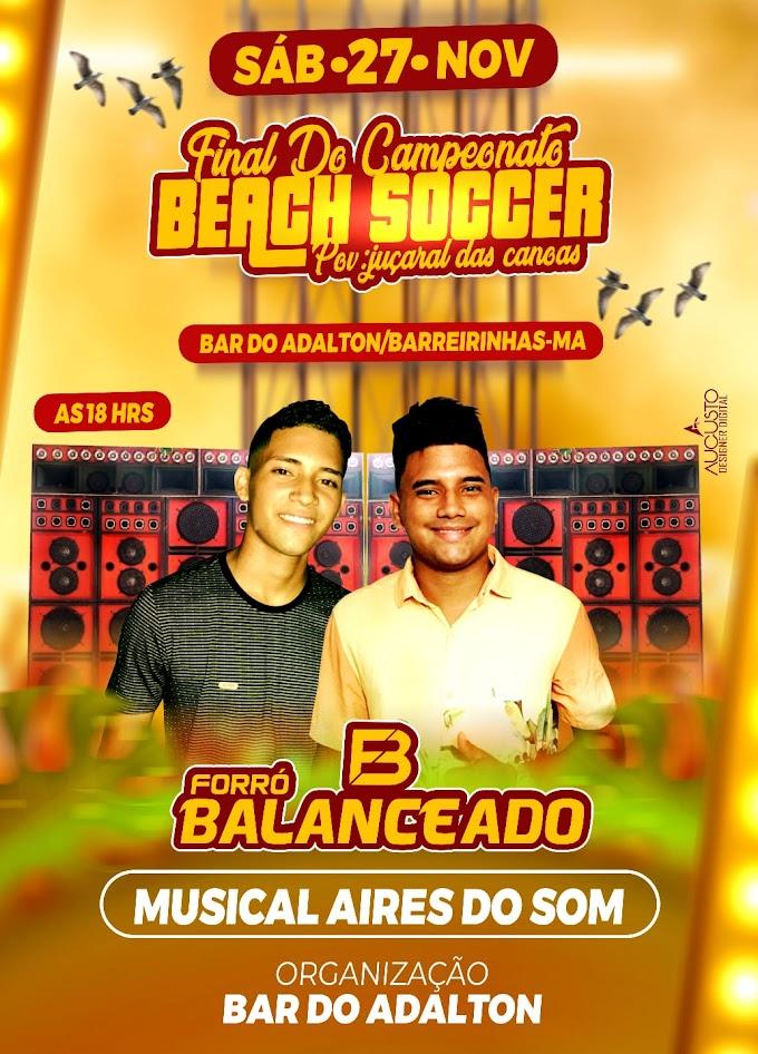 Final de Campeonato Beach Soccer dia 27 de novembro de 2021.