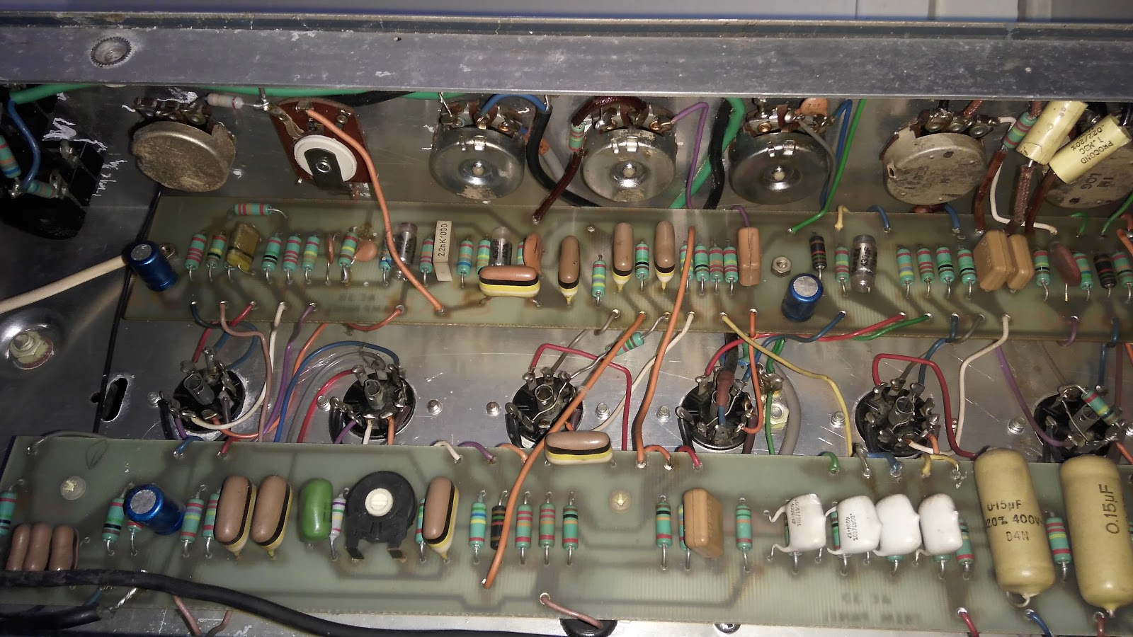 Hge Contraptions Vox Ac30 1979 Full Recap And Some Maintenance Wiring After