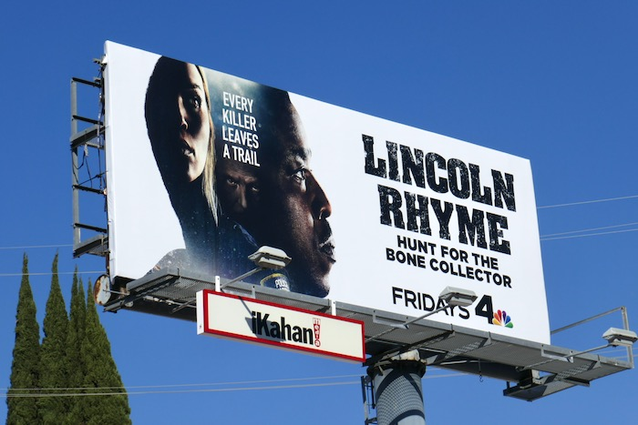 Lincoln Rhyme Hunt for Bone Collector billboard