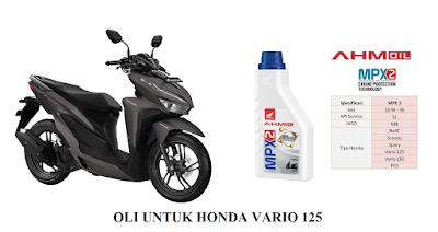 Oli yang bagus untuk Honda Vario 125 PGMFI