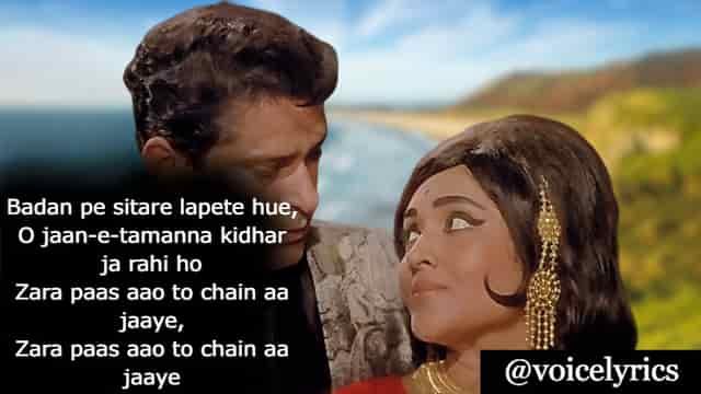 Lyrics Of Badan Pe Sitare