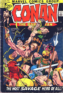 Conan the Barbarian v1 #12 marvel comic book cover art by Bernie Wrightson