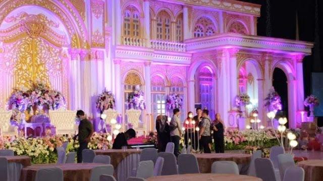 Dekorasi Resepsi Pernikahan Putri Wakil Wali Kota Samarinda yang Batal Digelar