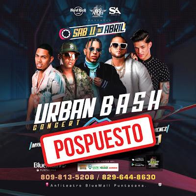 "Posponen concierto ""Urban Bash"""