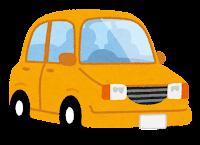 黄色の自動車のイラスト