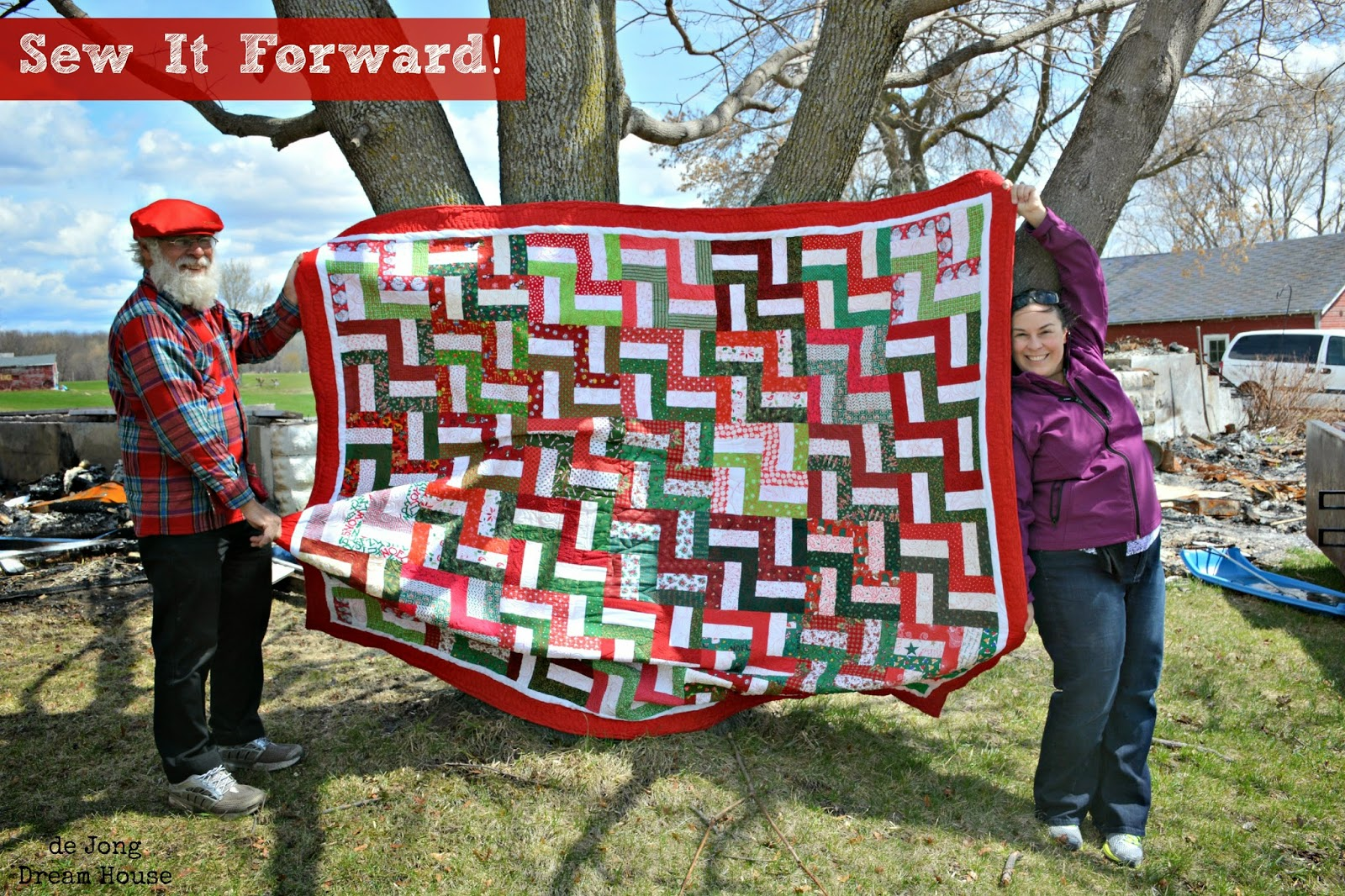 Sew It Forward (Quilts 22  & 23). First two (of three) rail fence quilts made by the Sew It Forward FB group for my family after the loss of my childhood home.