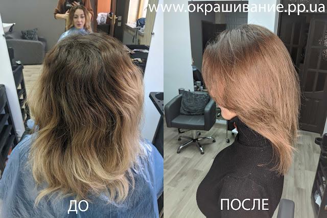 Бежевое окрашивание волос