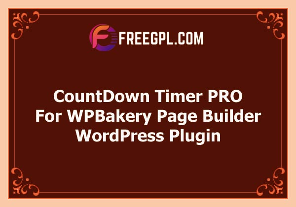 CountDown Timer PRO for WPBakery Page Builder Free Download