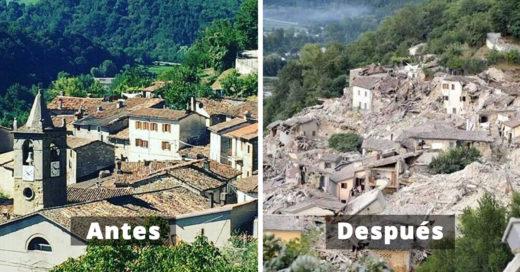 20 Imágenes del antes y después de Italia tras el terremoto