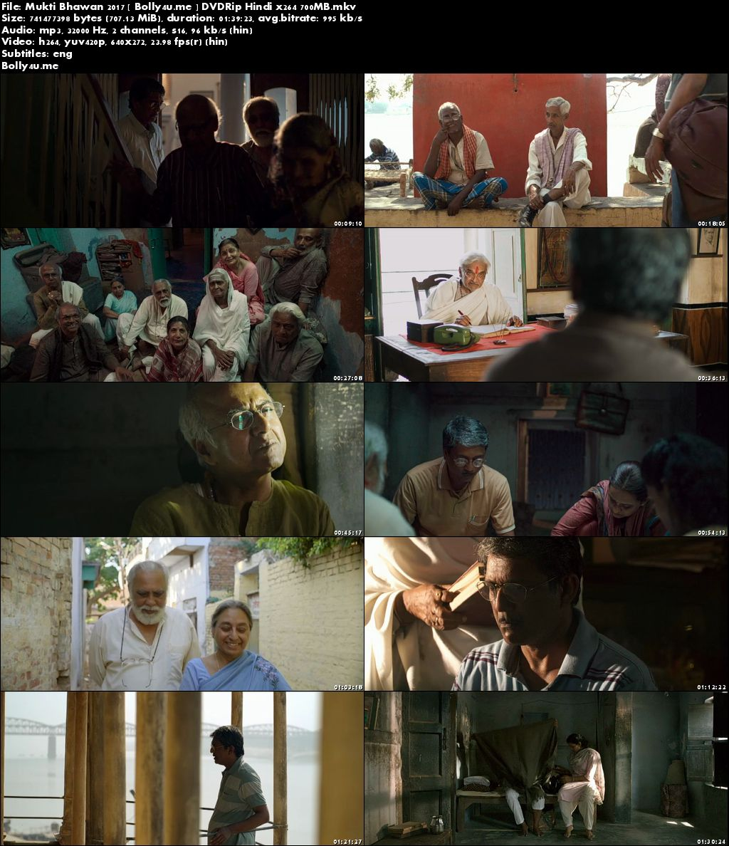 Mukti Bhawan 2017 DVDRip 700MB Hindi x264 ESub Download