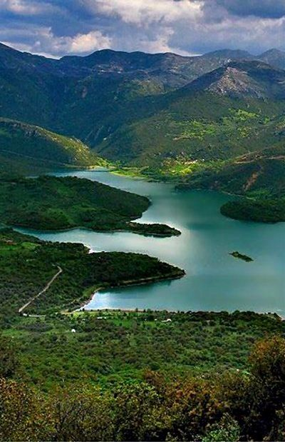 The Lake of Ladonas River Arcadia, Greece.