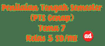 PENILAIAN TENGAH SEMESTER (PTS) GENAP TEMA 7 KELAS 5 SD/MI