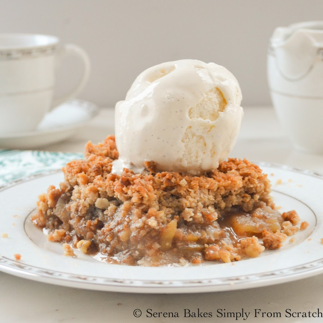 Easy to make recipe for Apple Crisp from Serena Bakes Simply From Scratch.