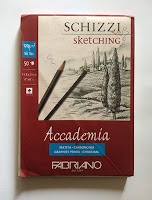 Fabriano Academia 120gsm, 50 sheets in pad ( for charcoal sketching )