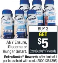 Ensure, Glucerna or Hunger Smart