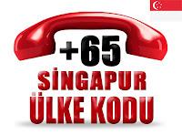 +65 Singapur ülke telefon kodu