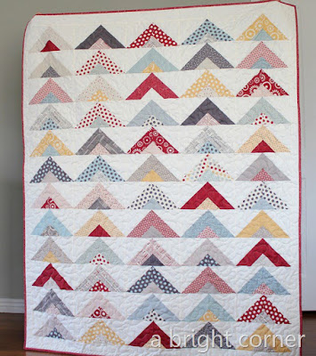 How to make a strip tube quilt - a jelly roll quilt tutorial from A Bright Corner