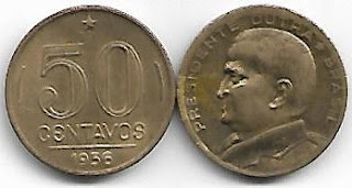 50 centavos, 1956 Presidente Dutra