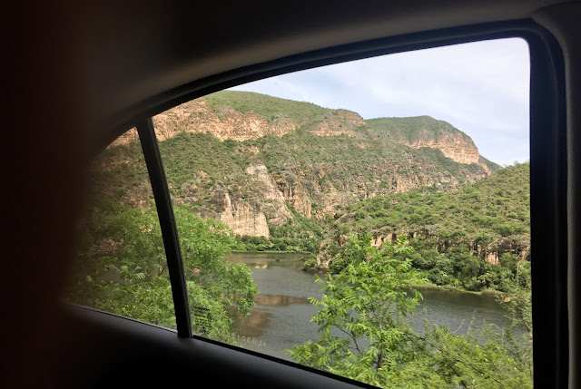 Rio Juramento from above - Salta, Argentina; saying goodbye