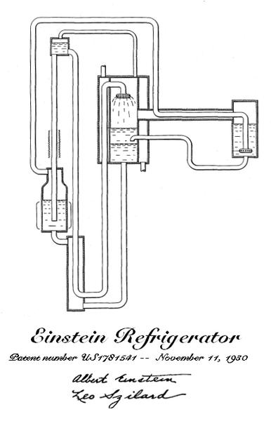 Patente del frigorífico que inventó Einstein