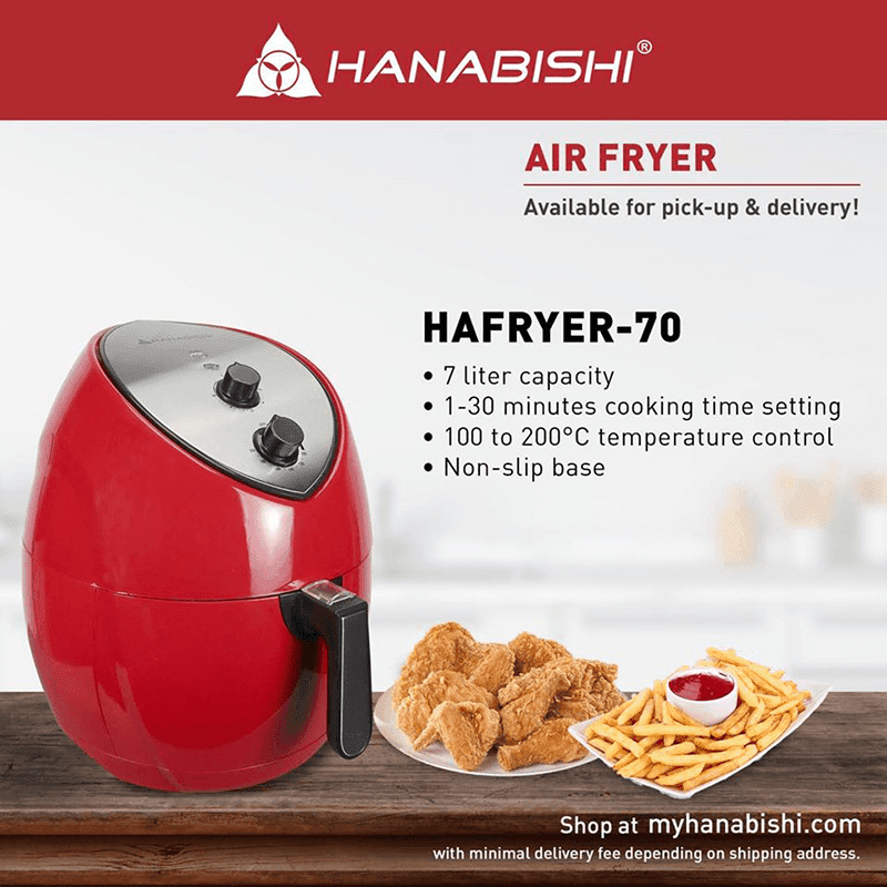 This 7-liter capacity Hanabishi Air Fryer is priced just PHP 4,185!
